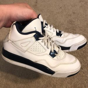 Jordan 4 IV Legend Blue Navy Boys Shoes 2Y